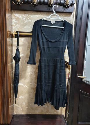 Красивое платье из тонкой шерсти ажурной вязки karen millen
