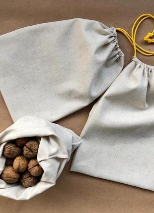 Эко мешочки, льняные мешочки для покупок, сыпучих, для продуктов, упаковка