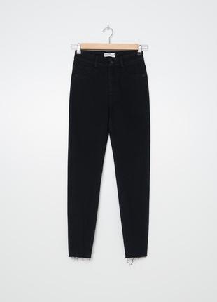 House новые джинсы штаны чёрные деним высокая посадка mom мом джинсы