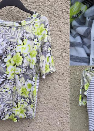 Кофта блуза в рубчик в полоску с принтом marccain sport