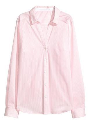Базовая рубашка в полоску h&m