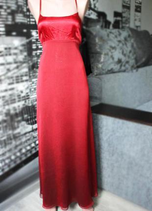 Длинное красное платье в пол,вечернее коктейльное