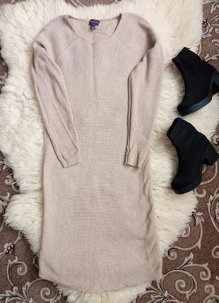 Длинное/актуальное/теплое платье/вязаное платье
