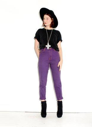 Обнова! джинсы пурпурные mom levis  модель 501 левайс левис