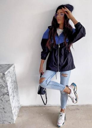 Ветровка куртка плащевка аляска джинс
