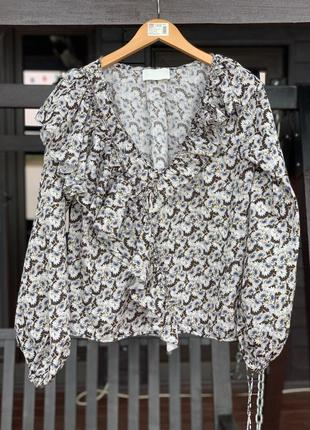 Потрясающая романтичная блуза h&m { как massimo, yakovenko }