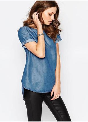 Джинсовая блузка(футболка,топ) new look