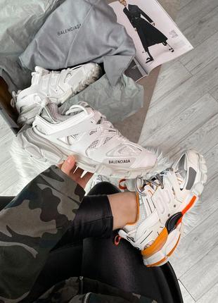 Женские, мужские кроссовки track white от известного дома моды
