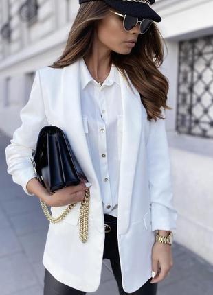 Стильный пиджак на подкладке 🤍