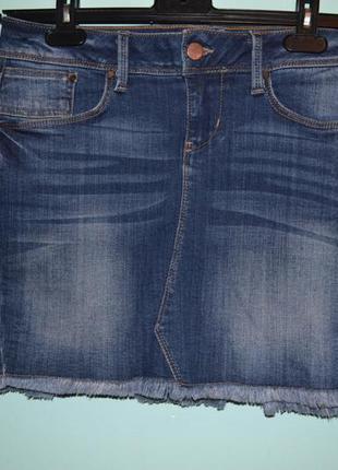 Стильная джинсовая юбка colin`s. размер 34 (xs-s)