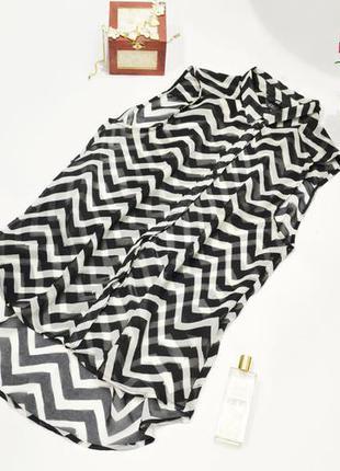 Полосатая блузка блуза, абстрактный принт