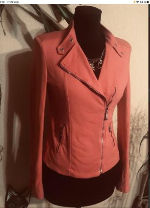 🔥шикарный🔥 итальянский пиджак жакет косуха хлопок италия