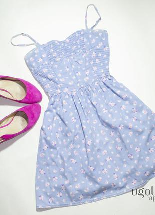 Милейшее хлопковое платье в цветочек colin's (s)
