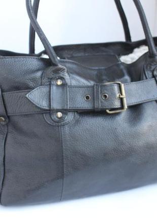 Великолепная большая деловая кожаная сумка, формат а4 натуральная кожа, индия