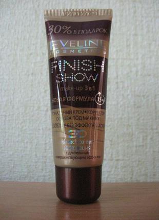 Eveline cosmetics finish shov make-up 3 в  тональная основа корректор