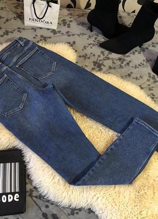 Крутые плотненькие джинсы резинки c высокой посадкой от pieces, р.м-10/38...🔥❤️🌹