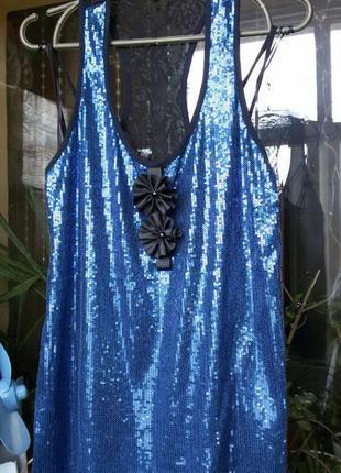 Блуза с паетками / майка / топ