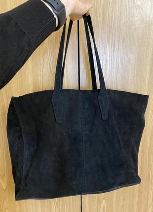 Замшевая сумка mango