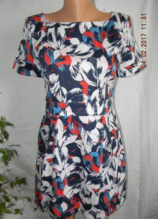 Натуральное платье с принтом french connection