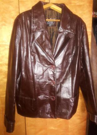 Кожаный пиджачок