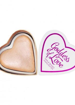 Хайлайтер  i heart revolution blushing hearts goddes of love  20 г