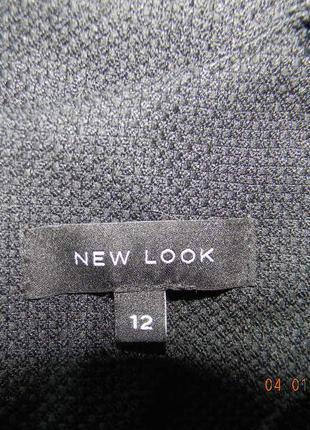 Черное осеннее классическое платье по фигуре new look3 фото
