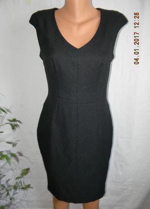 Черное осеннее классическое платье по фигуре new look