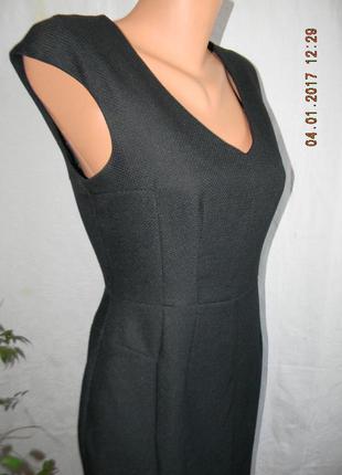 Черное осеннее классическое платье по фигуре new look4 фото