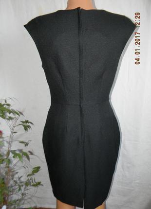 Черное осеннее классическое платье по фигуре new look5 фото