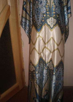 Красивое  домашнее  платье  в  пол  размер  52-54