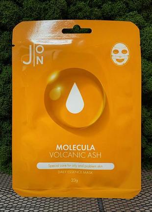 Тканевая маска для лица с вулканическим пеплом j:on molecula volcanic ash