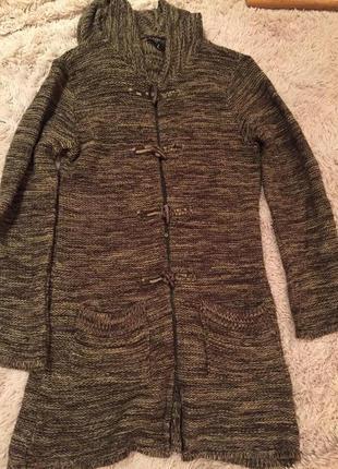 Длинный свитер-кардиган jennifer с капюшоном