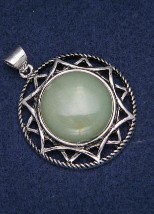Кулон с камнем нефрит