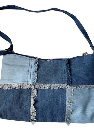 Джинсовая сумка клатч