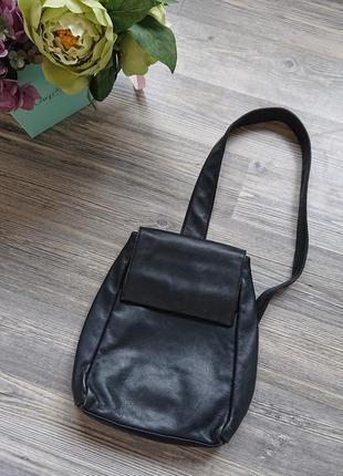Стильный женский кожаный городской рюкзак