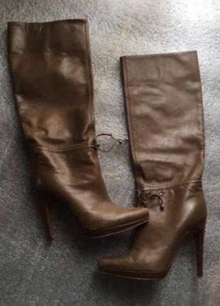Женские кожаные сапоги casadei оригинал