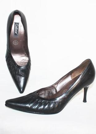 Кожаные туфли лодочки мягкая кожа gabor австрия