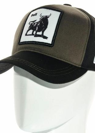 Спортивная кепка бейсболка с животным bull мужская женская