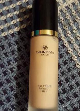 Антивозрастная тональная основа oriflame giordani gold