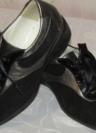 Удобные туфли-мокасины 100 % замша и кожа / chica / испания 38 р.