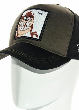 Стильная летняя бейсболка кепка мультяшная  с вышивкой taz мужская женская