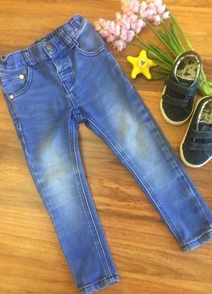Классные голубые стрейчевые джинсы скинни,брючки,штанишки next 2-3 года.