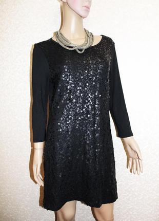Нарядное платье туника с пайетками 12-40 marks & spencer