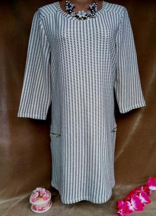 Актуальное теплое платье свободного кроя размер 16-18 (48-50)