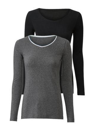 Комплект регланов серый + чёрный, цена за два