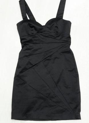 Вечернее,черное,атласное платье h&m.на корпоратив,вечеринку