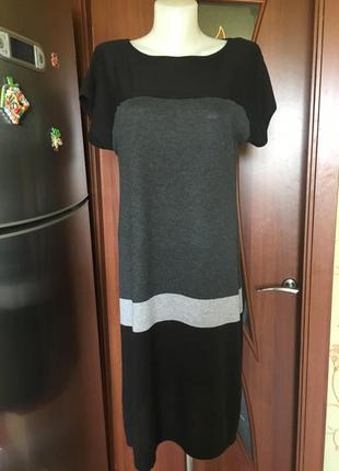 Платье туника оверсайз lindex в полоску черно-графитовое-серое!!!