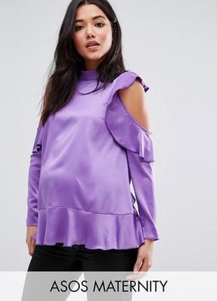 Атласная блуза для беременных