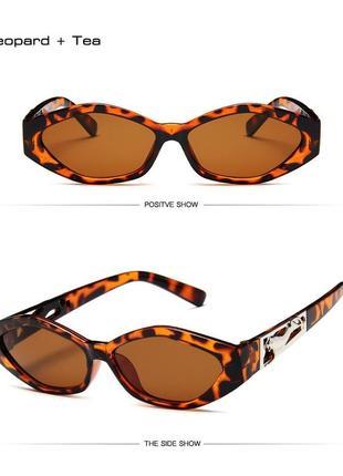 Солнцезащитные очки женские ретро стиль леопардовые