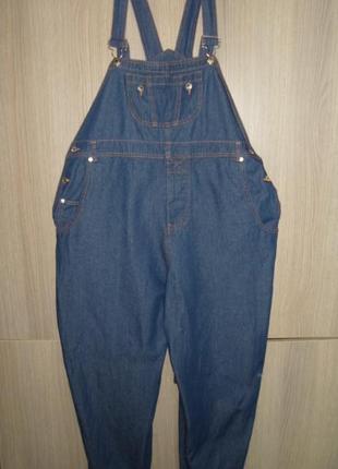Комбинезон джинсовый размер uk-16 eur-42 пояс 104-116 см